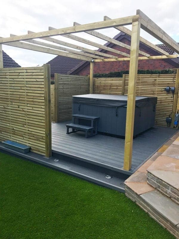 Grey Composite Decking With Hottub